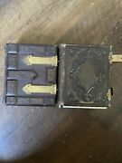 Lot Of 2 Empty Antique Cdv Photo Albums As Is As Found For Parts Or Crafts