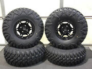 Grizzly 450 27 Street Legal 8 Ply Radial Atv Tire Viper Blk Wheel Kit Irs1ca
