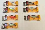 Lot Of 7 Rapala Scatter Rap Crank Scrc-5 And Shad Scrs-7