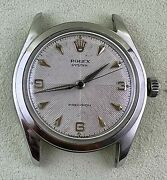 Vintage Rolex 34mm Watch Oyster Perpetual Ref 1025 Gold-shell Steel Case