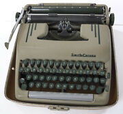 Vintage Smith Corona 5t Silent-super Portable Typewriter Green Key Case And Manual