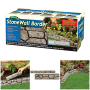 Landscape Stonewall Faux Stone Outdoor Wall Border Edge Garden 6 In. X 10 Ft New