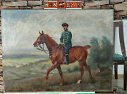 Alfred Stöcke Oil Painting Antique 1917 Crown Wilhelm Of Prussia To Horse