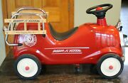 Vintage Radio Flyer Red Fire Engine 9 Toddler Ride-on Very Good Used Condition