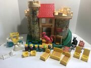 Vintage Fisher Price Little People Castle 993 King Queen Dragon Knight Princess