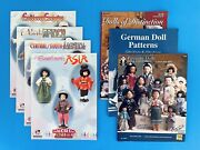 7 Doll Clothes Sewing Pattern Books Asia, Africa, Europe Americas World Costumes