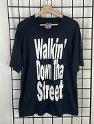 Vintage 90s Snoop Dogg Gin And Juice Double Sided Black Rap Tee Hip Hop T Shirt