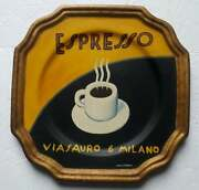 Marco Fabiano Tamsan Hand Painted Porcelain Wall Plate Espresso Discontinued