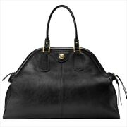 515937 Gg Marmont Rebelle Large Tote Hand Bag Black Leather Mint