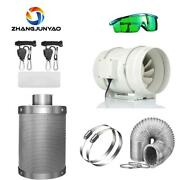 4/5/6/8 Inch Growth Tent Centrifugal Fan And Activated Carbon Air Filter Set 220