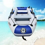 Luxury Outdoor Pvc Boat Inflatable Rowing Fishing Sailing Kayak Ship 2 Person