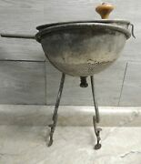1912 Dilver Mfg Food Mill Strainer W/ Orig Stand Pittsburgh Amazing Antique