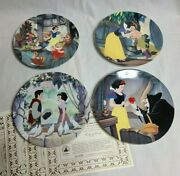 4 Disney Knowles Collector's Plate Series 'snow White' Plates