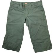 Free People Cropped Cuffed Cargo Pants Size 10 Olive Green