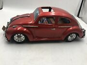 Vintage Bandai Japan King Size Tin Toy Volkswagen Beetle Battery Operated