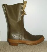 Vintage Converse Rod And Reel Thermo Rubber Boots Mens 8 Lace Up Fishing Wading