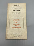 Vintage 1962-66 Acme Quality Paints Inc Factory Packaged Car Color Selling Guide