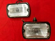 1979-86 Marchal Fog Lights Mustang Gt Pace Rally Lamps Working Nice Look @@