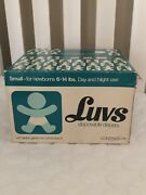 Vintage Luvs Diapers Small Open Box 14 Diapers Movie Prop 1975