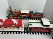 Vtg 1986 New Bright No. 183 Holiday Time Express 22 Pc G Scale Train Set In Box