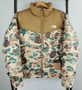 Nwt 229 The Size Large Mens Duck Frogskin Camouflage Puffer Jacket