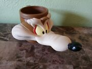 Rare Looney Tunes Wile E. Coyote 1992 Vintage Character Mug Brown