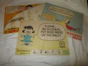 Peanuts Snoopy Lucy Butternut Bread Vintage Advertising Diecut Signs 3