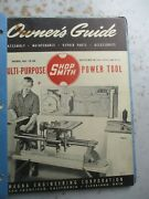 Shop Smith Power Tools Binder Of Catalogs, Tech Sheets, Etc. Early 1950s