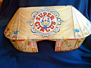Marx Super Circus Tin Litho Tent - Early 1950s, Great Litho, Tent Only
