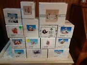 Vintage Lot 14 Charming Tails Fitz And Floyds Christmas Figure Figurine W/ Box