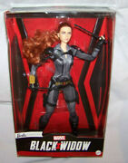 Barbie Signature Marvel Studios Black Widow Poseable Doll 11.5 With Red Hair