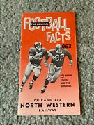 1963 Chicago And North Western Railway Football Schedule Booklet Nfl Afl Ncaa