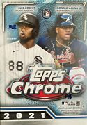 2021 Topps Chrome Baseball Blaster Box Exclusive Sepia And Pink Refractors Autos