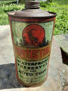 Vintage Protection Auto Cone Top Car Tin Can W/ Billy Goat Kalamazoo Michigan