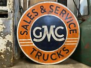 42andrdquo Gmc Sign / Hand Painted Wooden Contemporary Folk Art