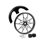 30 X 3.5and039and039 Front Wheel Rim Hub And Front Fender Fit For Harley Touring 2008-2021