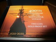 400th Anniversary Mayflower Voyage Two Coin Gold Proof Set