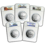 2010 5-coin 5 Oz Silver Atb Set Ms-69 Ngc Early Releases - Sku 74562