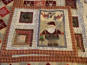 Queen Size - Holiday Comforter 2 Pillow Shams- Pre-owned