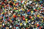 Vintage Glass Buttons 7000 Pieces, Size - 9mm, 13mm, 18mm, 23mm, 32mm - 1