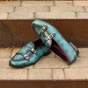 The Hand Patina Monk Slipper Model 4697 From Robert August W/ Shoe Trees