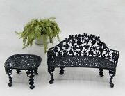 Vintage Susan Russo Wrought Iron Garden Bench And Table Dollhouse Miniature 112
