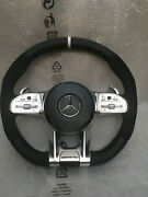 Mercedes Amg Steering Wheel -white- For All Pre-facelift Models With Adapter