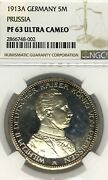 German States Prussia 1913 5 Mark Coin Thaler Taler Ngc Pf 63 Ucameo Proof Pp