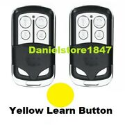 2 For Chamberlain Liftmaster Garage Door Opener Remote 891lm Yellow Learn Button