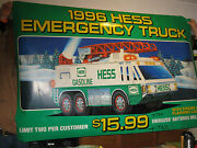 Huge 6and0392 X 4and039 Vintage 1996 Hess Toy Truck Sign Rare And Highly Collectable