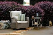 Outdoor Swivel Glider Patio Chair With Side Table Patio Wicker Furniture Set