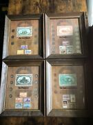 Framed Coin And Stamp Sets, American Indian,trailblazers, Pioneers, Forty Niners