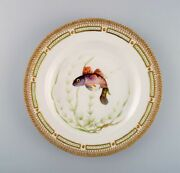 Royal Copenhagen Fauna Danica Fish Plate In Hand-painted Porcelain With Fish