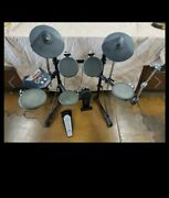 Roland Td-6 V Drums Electronic Drum Kit 5 Pads 2 Cymbals Kd-8 Kick Fd-6 Bass